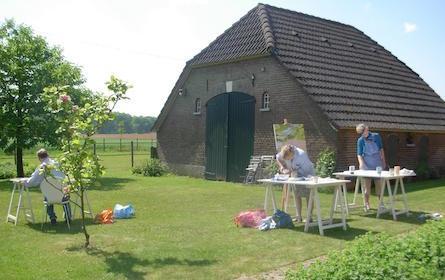 Workshop Landschap Schilderen en Tekenen op de boerderij in Warnsveld