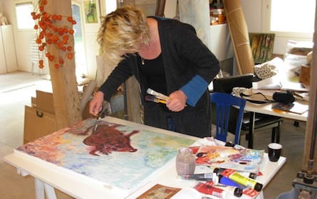 Workshop Schilderen als COBRA in Zutphen, Warnsveld bij Atelier Het Groene Paard